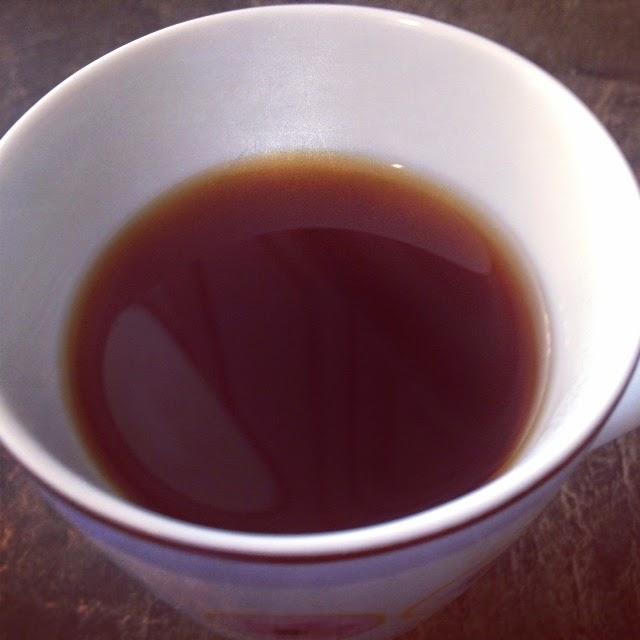 Fresh brewed cup of Ethiopia Yirgacheffe